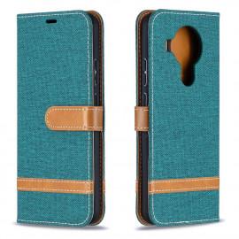 Denim Book Case Nokia 5.4 Hoesje - Groen