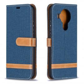 Denim Book Case Nokia 5.4 Hoesje - Blauw