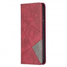 Geometric Book Case Nokia 5.4 Hoesje - Rood