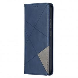 Geometric Book Case Nokia 5.4 Hoesje - Blauw