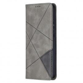 Geometric Book Case Nokia 5.4 Hoesje - Grijs