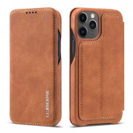 Retro Book Case iPhone 12 Mini Hoesje - Bruin