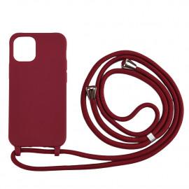 TPU met Koord iPhone 12 / 12 Pro Hoesje - Bordeaux