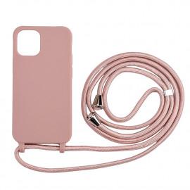 TPU met Koord iPhone 12 / 12 Pro Hoesje - Roze