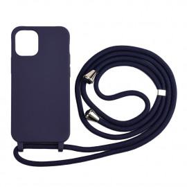 TPU met Koord iPhone 12 / 12 Pro Hoesje - Blauw