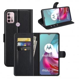 Book Case Motorola Moto G10 / G20 / G30 Hoesje - Zwart