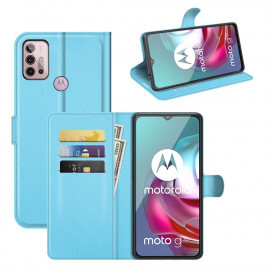 Book Case Motorola Moto G10 / G20 / G30 Hoesje - Lichtblauw