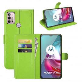 Book Case Motorola Moto G10 / G20 / G30 Hoesje - Groen