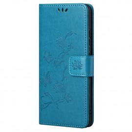 Bloemen Book Case OnePlus Nord 2 Hoesje - Blauw