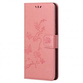Bloemen Book Case OnePlus Nord 2 Hoesje - Pink