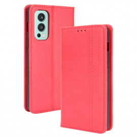Vintage Book Case OnePlus Nord 2 Hoesje - Rood