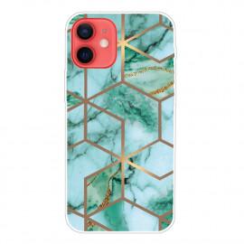 Marble Design iPhone 13 Mini Hoesje - Groen