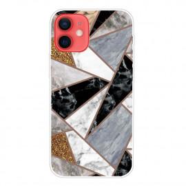 Marble Design iPhone 13 Mini Hoesje - Grijs / Zwart