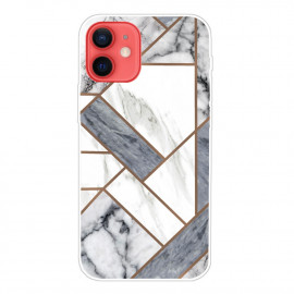 Marble Design iPhone 13 Mini Hoesje - Grijs / Wit