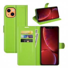 Book Case iPhone 13 Mini Hoesje - Groen