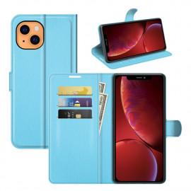 Book Case iPhone 13 Hoesje - Lichtblauw