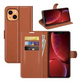 Book Case iPhone 13 Hoesje - Bruin