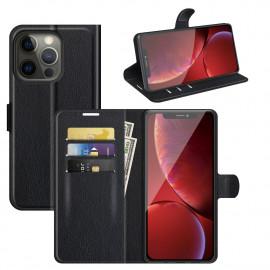 Book Case iPhone 13 Pro Hoesje - Zwart
