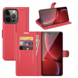 Book Case iPhone 13 Pro Hoesje - Rood