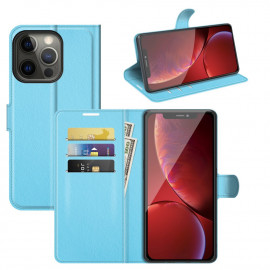 Book Case iPhone 13 Pro Hoesje - Lichtblauw