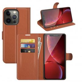 Book Case iPhone 13 Pro Hoesje - Bruin