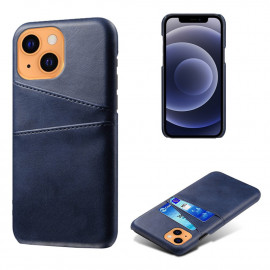 Dual Card Back Cover iPhone 13 Mini Hoesje - Blauw