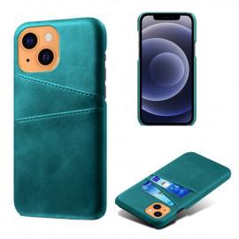 Dual Card Back Cover iPhone 13 Mini Hoesje - Groen