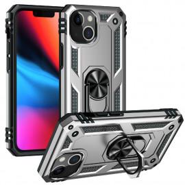 Ring Kickstand iPhone 13 Mini Hoesje - Zilver
