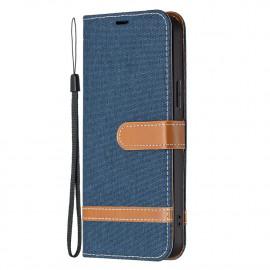 Denim Book Case iPhone 13 Pro Hoesje - Blauw