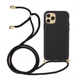 TPU met Koord iPhone 13 Mini Hoesje - Zwart
