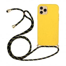 TPU met Koord iPhone 13 Mini Hoesje - Geel