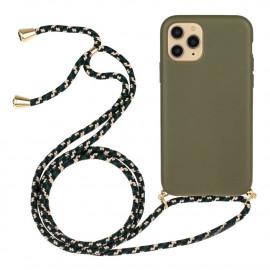 TPU met Koord iPhone 13 Mini Hoesje - Groen