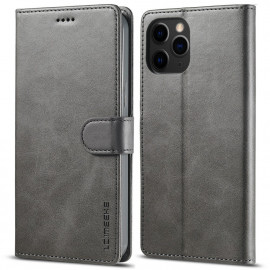 Luxe Book Case iPhone 13 Pro Max Hoesje - Grijs