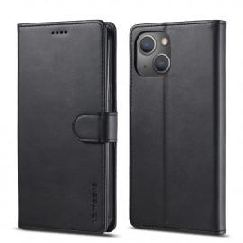 Luxe Book Case iPhone 13 Hoesje - Zwart