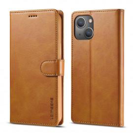 Luxe Book Case iPhone 13 Hoesje - Bruin