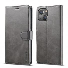 Luxe Book Case iPhone 13 Hoesje - Grijs