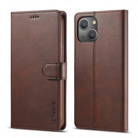 Luxe Book Case iPhone 13 Hoesje - Donkerbruin