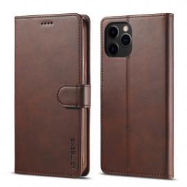 Luxe Book Case iPhone 13 Pro Hoesje - Donkerbruin