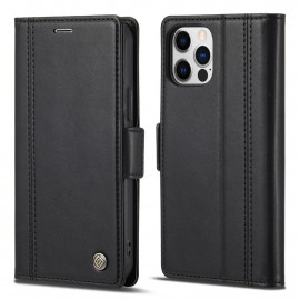 Classic Book Case iPhone 13 Pro Max Hoesje - Zwart
