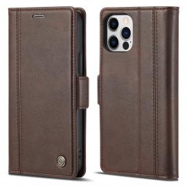 Classic Book Case iPhone 13 Pro Max Hoesje - Bruin