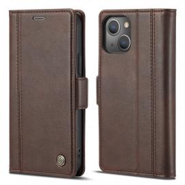 Classic Book Case iPhone 13 Mini Hoesje - Bruin
