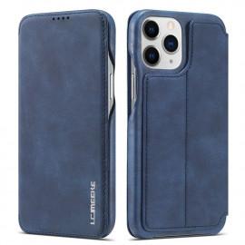 Retro Book Case iPhone 13 Pro Hoesje - Blauw