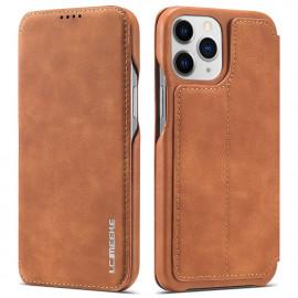 Retro Book Case iPhone 13 Pro Max Hoesje - Bruin
