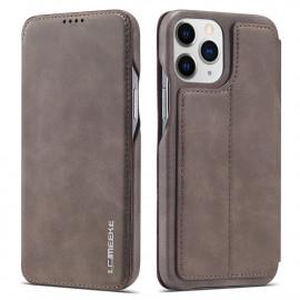 Retro Book Case iPhone 13 Pro Max Hoesje - Grijs