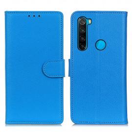 Book Case Xiaomi Redmi Note 8 (2021) Hoesje - Blauw