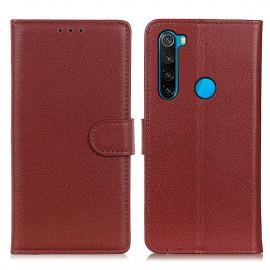 Book Case Xiaomi Redmi Note 8 (2021) Hoesje - Bruin