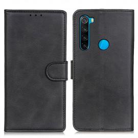 Luxe Book Case Xiaomi Redmi Note 8 (2021) Hoesje - Zwart