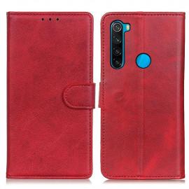 Luxe Book Case Xiaomi Redmi Note 8 (2021) Hoesje - Rood
