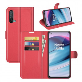 Book Case OnePlus Nord CE 5G Hoesje - Rood