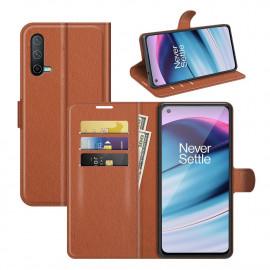 Book Case OnePlus Nord CE 5G Hoesje - Bruin